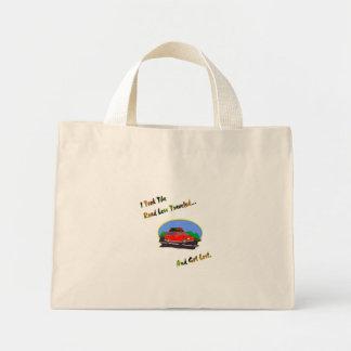 旅行者が少ない道。 無くなった得られる ミニトートバッグ