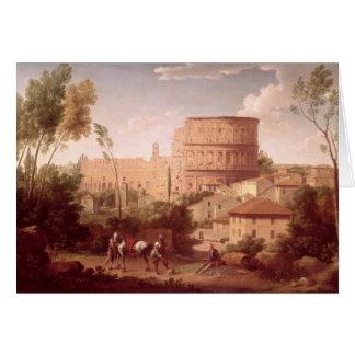 旅行者とのColosseum、1731年の眺め(oi カード