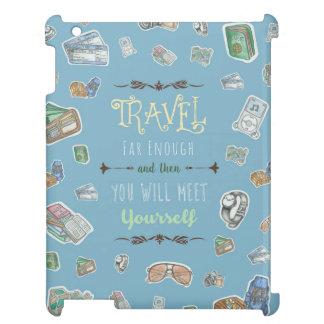 旅行者によって引用されるタイポグラフィ iPad CASE