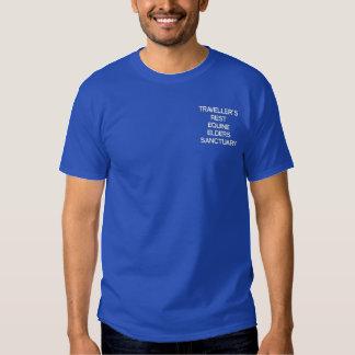 旅行者の残りのウマ科のな年長者の聖域 刺繍入りTシャツ