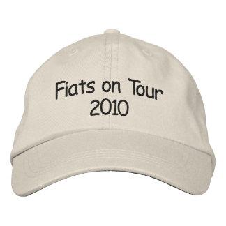 旅行2010年のフィアット 刺繍入りキャップ