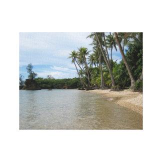 旅行、グアム:  島の入江 キャンバスプリント
