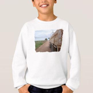 旅行BRB砂利トラック景色の空のユート語 スウェットシャツ