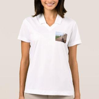旅行BRB砂利トラック景色の空のユート語 ポロシャツ