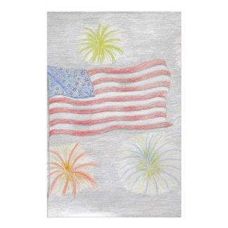 旗および花火 便箋