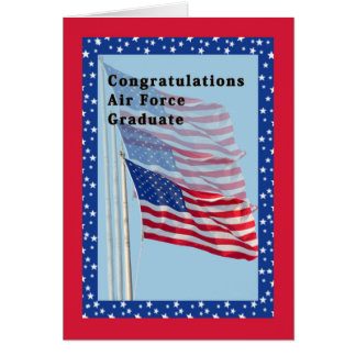 旗が付いているお祝いの空軍カード カード