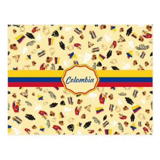 旗が付いているコロンビアの有名な項目 ポストカード