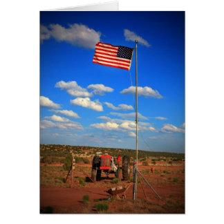 旗が付いているトラクター カード