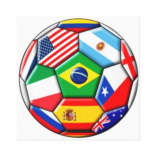 旗が付いている球 キャンバスプリント
