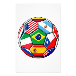 旗が付いている球 便箋