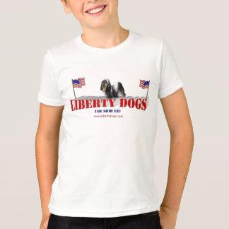 旗とのシーズー(犬) Tzu Tシャツ