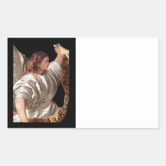 旗とのTitianの天使 長方形シール