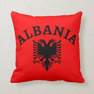旗のアルバニアそしてワシ-装飾用クッション クッション