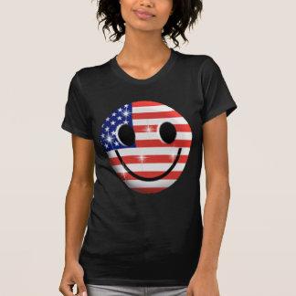 旗のスマイリーフェイス Tシャツ