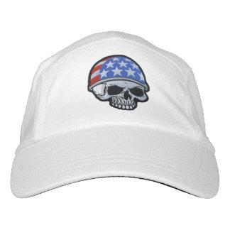 旗のヘルメットのスカル ヘッドスウェットハット