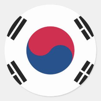 旗の南朝鮮の대한민국 ラウンドシール