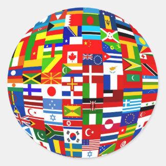 旗の地球 ラウンドシール