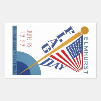 旗の日 長方形シール