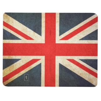 旗の英国国旗グランジなイギリスのジャーナル ポケットジャーナル