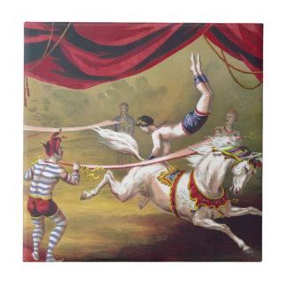 旗の行為のヴィンテージのサーカスの芸術 タイル