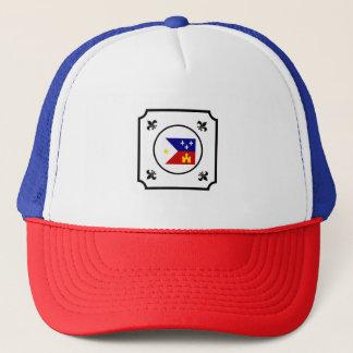 旗の(紋章の)フラ・ダ・リのケージャンのルイジアナのAcadian帽子 キャップ