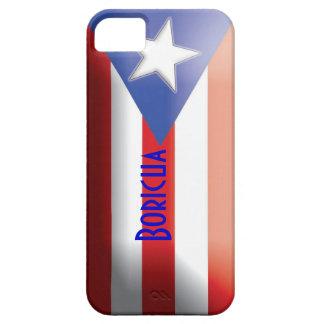 旗のBoricuaのプエルトリコの場合 iPhone SE/5/5s ケース