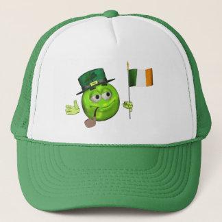 旗のemojiのst patricks dayの緑の幸運なアイルランドの帽子 キャップ