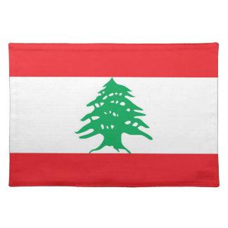 旗のMoJoのレバノンのランチョンマット ランチョンマット