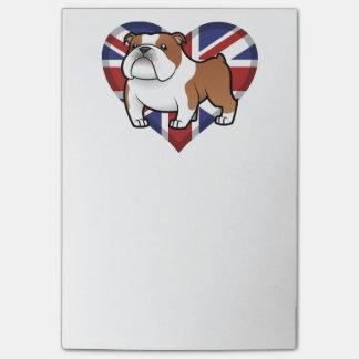 旗を持つ漫画ペット ポストイット