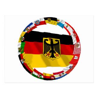 旗を振るドイツ及びLaender ポストカード