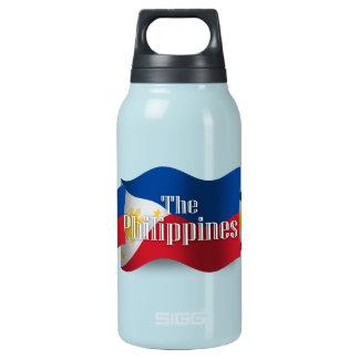 旗を振るフィリピン 断熱ウォーターボトル