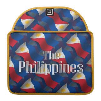 旗を振るフィリピン MacBook PROスリーブ