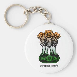 旗インドの紋章付き外衣 キーホルダー