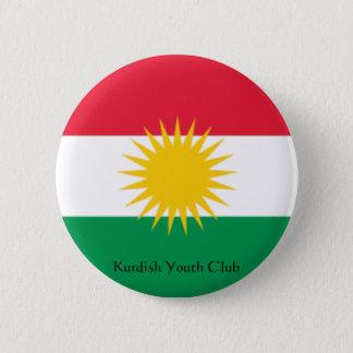 旗クルジスタン、クルドのユースクラブ 5.7CM 丸型バッジ