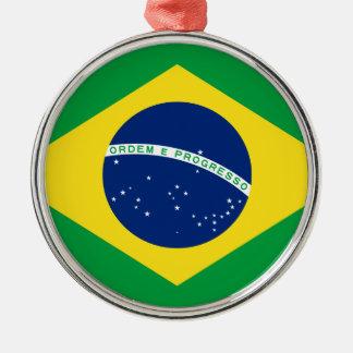 旗ブラジル。 República Federativaはブラジルをします メタルオーナメント