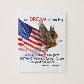 旗及びワシのドナルドJの切札の引用文 ジグソーパズル