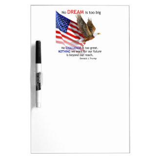 旗及びワシのドナルドJの切札の引用文 ホワイトボード