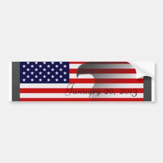 旗1月20日2013年 バンパーステッカー