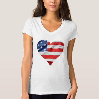 """""""旗""""の代わりとなる服装のカレンのV首のTシャツ Tシャツ"""
