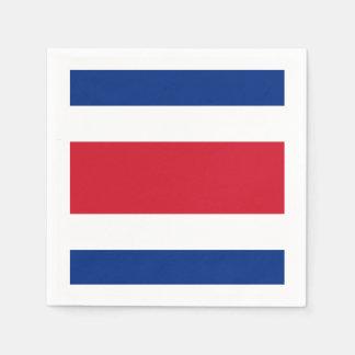 旗: コスタリカ スタンダードカクテルナプキン