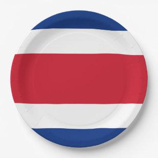 旗: コスタリカ ペーパープレート