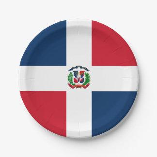 旗: ドミニカ共和国 ペーパープレート