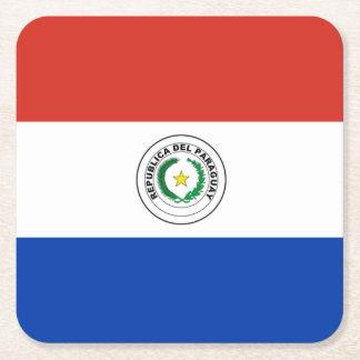 旗: パラグアイ スクエアペーパーコースター