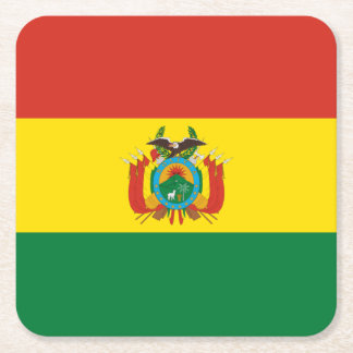 旗: ボリビア スクエアペーパーコースター
