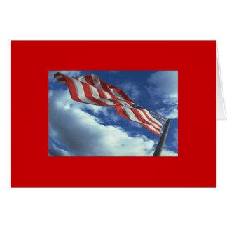 旗-星条旗-古い栄光 グリーティングカード