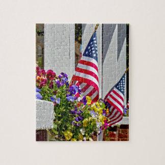 旗 + 花 ジグソーパズル