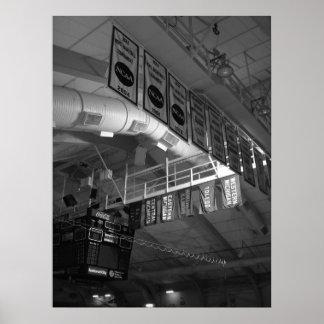 旗、読書競技場、ミシガン州西部の大学 ポスター