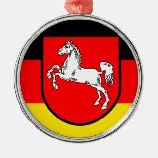旗- Flagge - Fahneドイツザクセン南部 メタルオーナメント