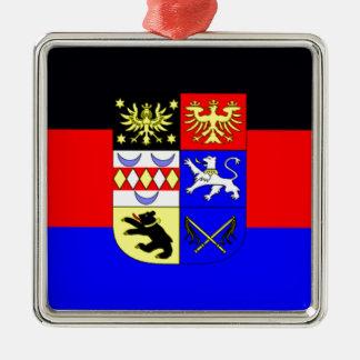 旗- Flagge - Fahne -ドイツ東のFrisia メタルオーナメント