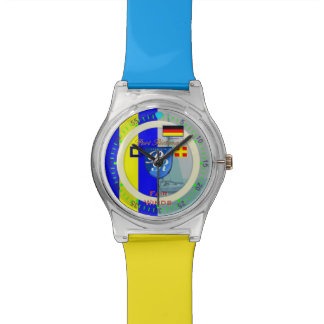 """旗Gの""""ゴルフ""""ドイツ航海のな港Richman 腕時計"""